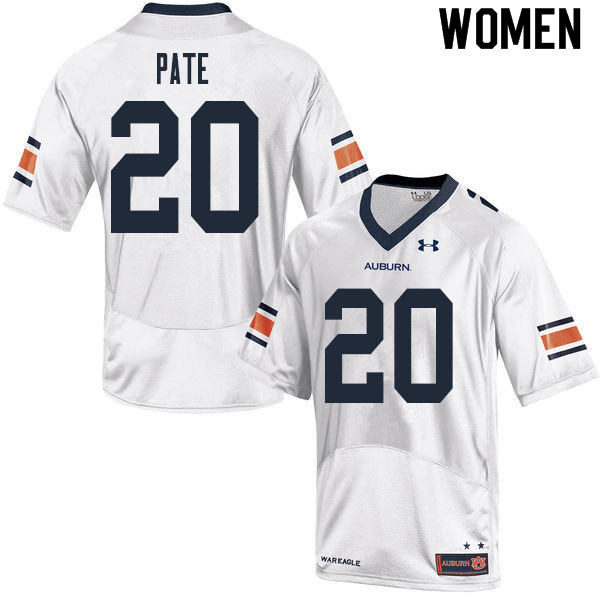 Women #20 Sawyer Pate Auburn Tigers College Football Jerseys Sale-White